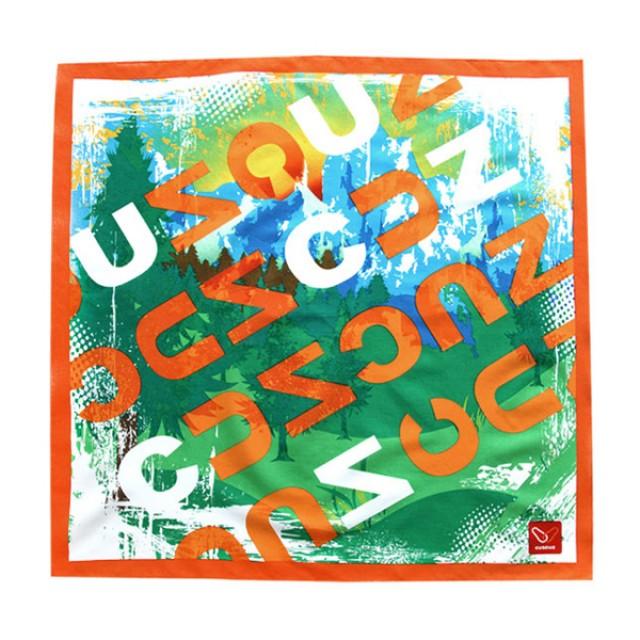 커스커즈 오렌지 손수건 [제작 대량 도매 로고 인쇄 레이저 마킹 각인 나염 실크 uv 포장 공장 문의는 네이뽕]