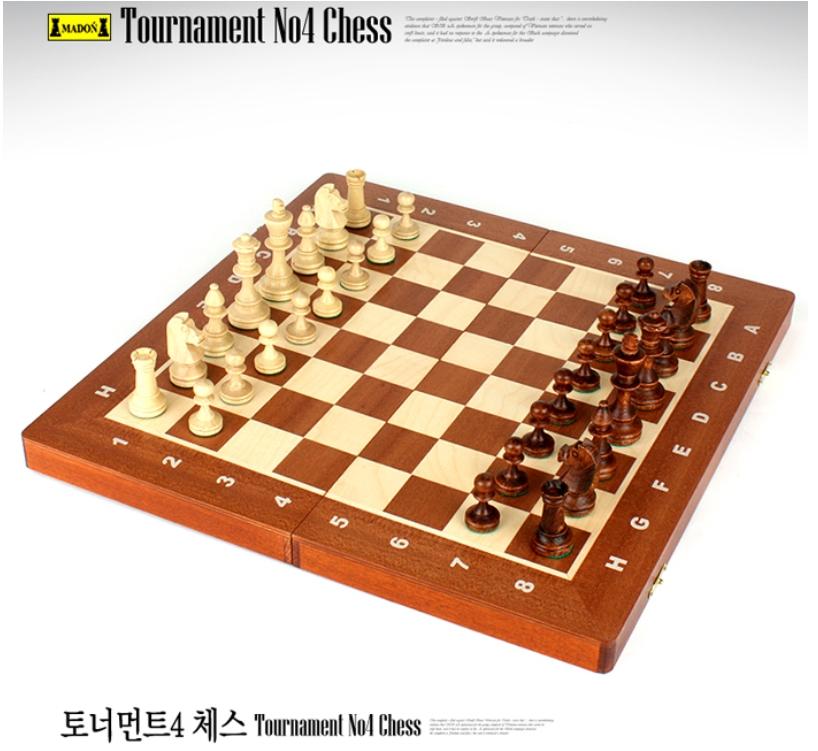 토너먼트4번 체스 (tournament No.4) - 원목/폴란드정품/보드게임/두뇌계발/인성개발/가족놀이/선물