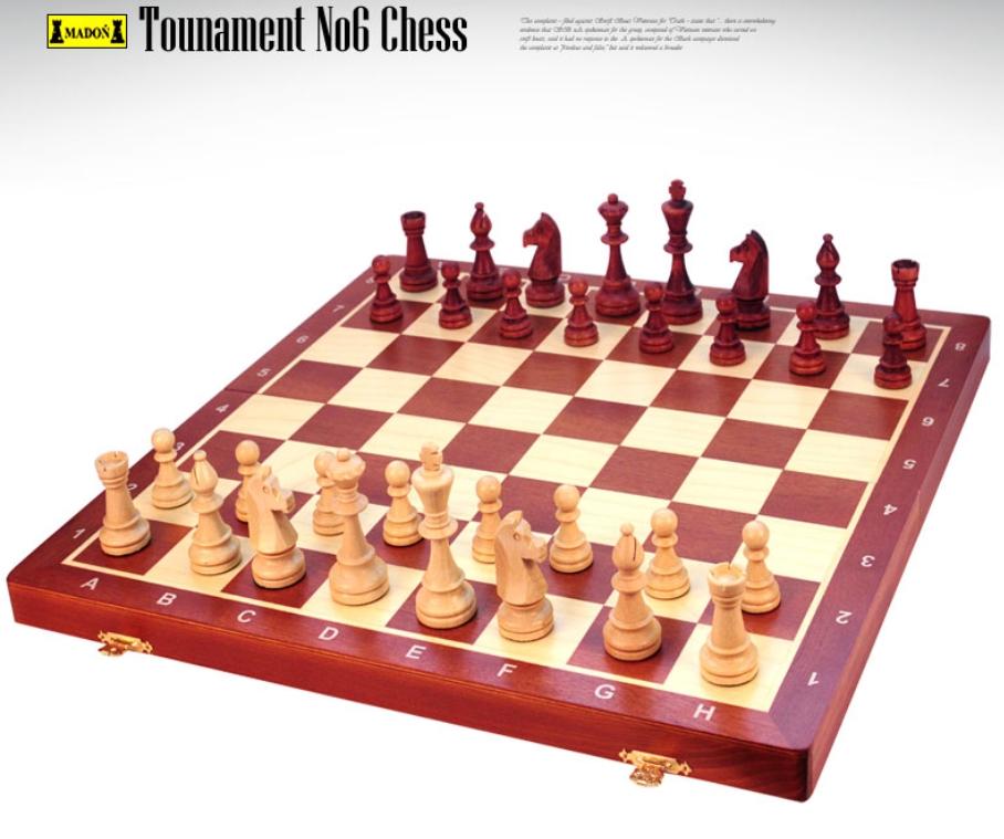 토너먼트6번 체스 (tournament No.6) - 원목/폴란드정품/보드게임/두뇌계발/인성개발/가족놀이/선물