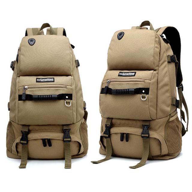 남자등산가방 여행 백팩 밀리터리 가방 (베이지-40L) [제작 대량 도매 로고 인쇄 레이저 마킹 각인 나염 실크 uv 포장 공장 문의는 네이뽕]