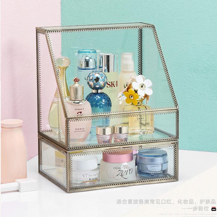 [해외] 고급 다용도 유리 청동테두리 화장품 악세사리 정리대 수납장 15가지 스타일
