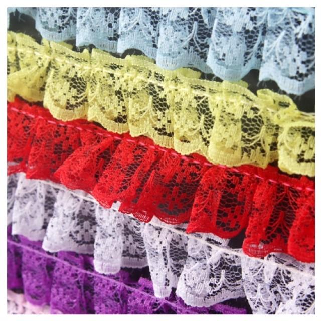 [현재분류명],망사레이스 (2.3cm) 2M 하늘 1개 레이스끈 레이스장식 리본장식,포장용끈,포장용리본용품,만들기재료,공예재료,레이스접착리본