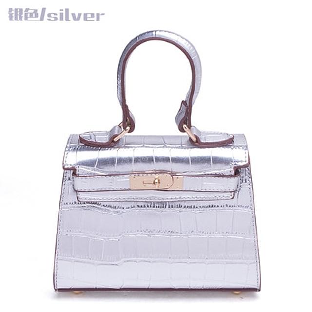 (더산쇼핑)(해외직구) LAOCAI 여성 미니 켈리 악어 패턴 핸드백 (미니)/배송기간 10~15일/1803082430