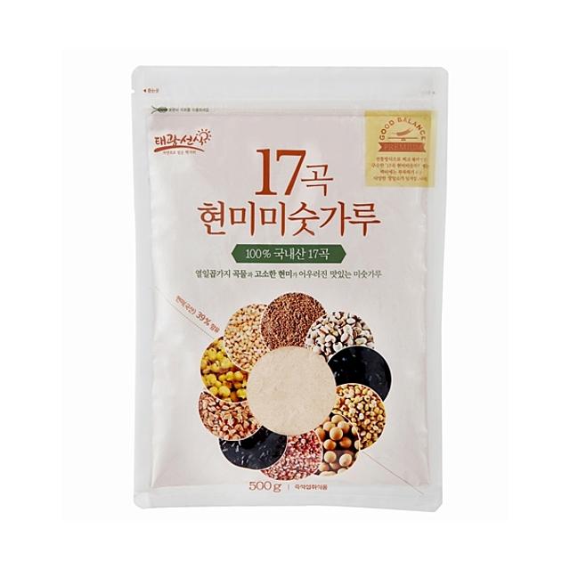 17곡 현미 미숫가루 500g 엄선한 17가지 국산 곡물을 전통방식으로 찌고 만든 구수한 맛