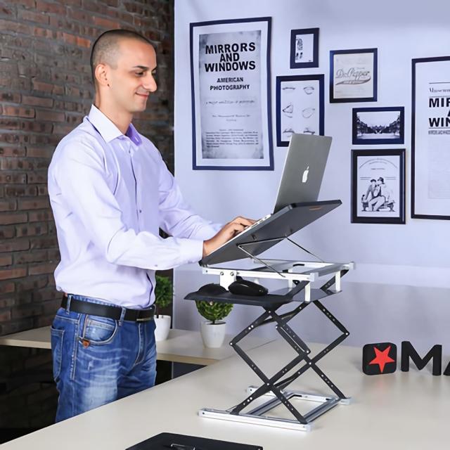 [해외] 스탠딩 컴퓨터 테이블 노트북 거치대